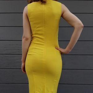 Sportmax Yellow Midi Dress Small S
